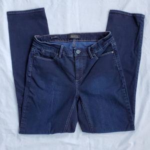 TALBOTS straight curvy jeans navy blue size 4